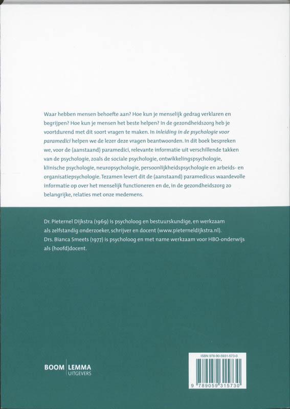 Pieternel Dijkstra, B. Smeets,Inleiding in de psychologie voor paramedici