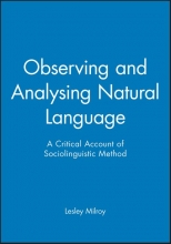 Lesley Milroy Observing and Analysing Natural Language