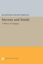 Brogan, Jacqueline Vaug Stevens and Simile - A Theory of Language