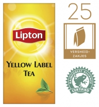 , Thee Lipton Yellow label 25stuks