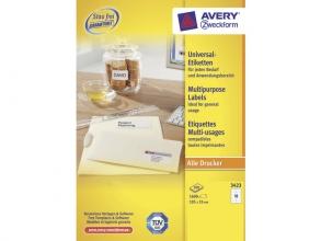 , etiket Avery ILK 105x35mm 100 vel 16 etiketten per vel wit
