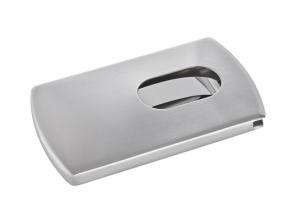 , visitekaartetui Sigel zilver `Snap` voor kaarten tot 9