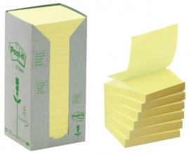 , Memoblok 3M Post-it Z-Note R330 76x76mm recycled geel