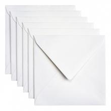 , Envelop Papicolor 140x140mm metallic parelwit