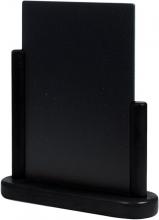 , Krijtbord Securit 23x20x6cm zwart hout