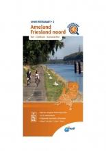 ANWB , Fietskaart Ameland, Friesland noord 1:66.666