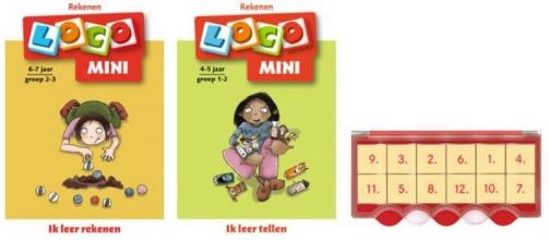 , Loco Mini ik leer rekenen 5+ (doos + 2 boekjes)
