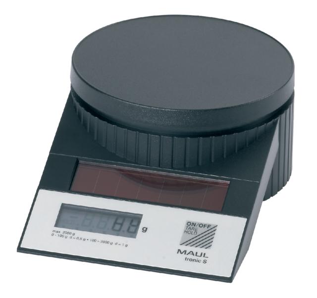 ,Briefweger MAUL Tronic solar tot 2000 gram zwart