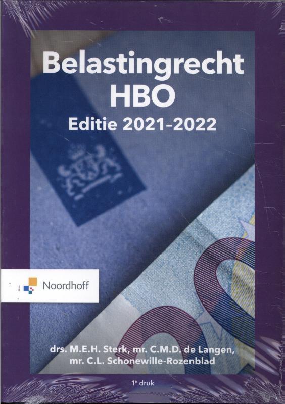 M.E.H. Sterk, D. de Lange, L. Rozenblad,Belastingrecht HBO 2021-2022