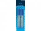 ,Balpen Schneider Tops 505M blauw medium 4 stuks op blister