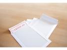 ,bordrugenvelop Raadhuis 220x312mm EA4 wit met plakstrip     doos a 100 stuks