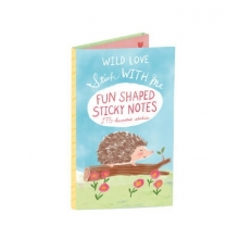 Stick With Me Wild Love Shaped Sticky Notes