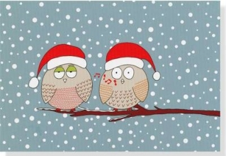 Whistling Owls Small Boxed Holiday Cards