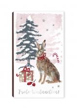 , Kerst  luciferdoosje konijn