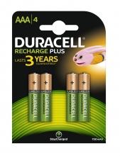 , Batterij oplaadbaar Duracell 4xAAA 750mAh Plus