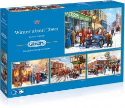 Gib-g5043 , Gibsons puzzel winter about town - kevin walsh - gibsons puzzel - 4 x 500