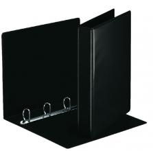 , Presentatieringband Esselte Deluxe A4 4-rings D-mech 20mm zwart