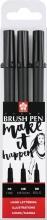 Sakura Pigma Brush Pen 3 zwart