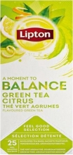 , Thee Lipton Balance Groene thee Citrus 25stuks