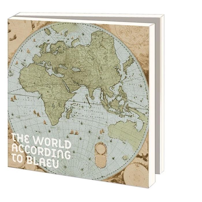Wmc757,Notecard pak 10 stuks 15x15 cm the world according to blaeu