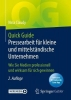 Claudy Nina Claudy, Quick Guide Pressearbeit fur kleine und mittelstandische Unternehmen