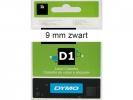 , Labeltape Dymo 41913 D1 720680 9mmx7m zwart op wit