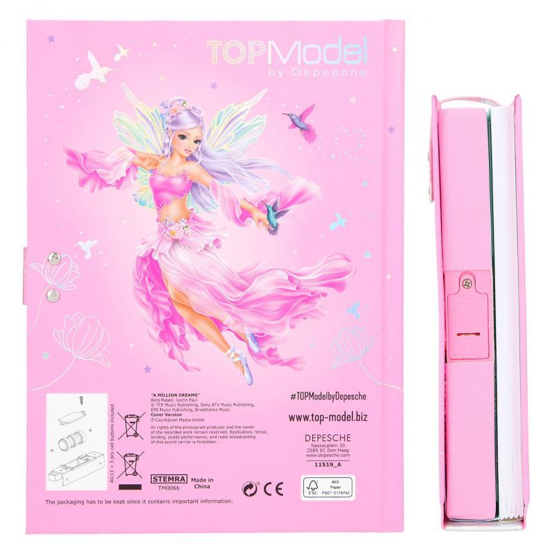 ,Fantasymodel dagboek met geheime code fairy