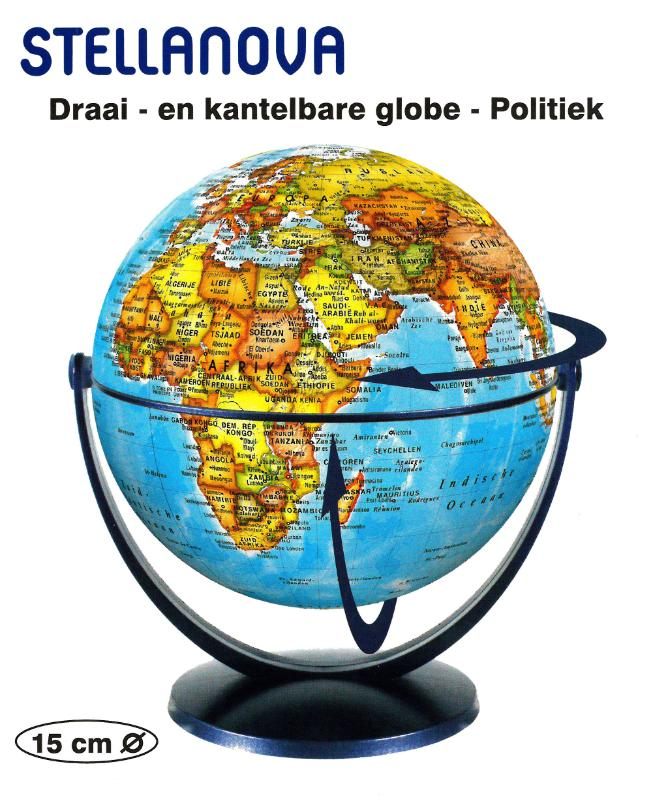 ,Globe 15 cm pol. draai & kantel