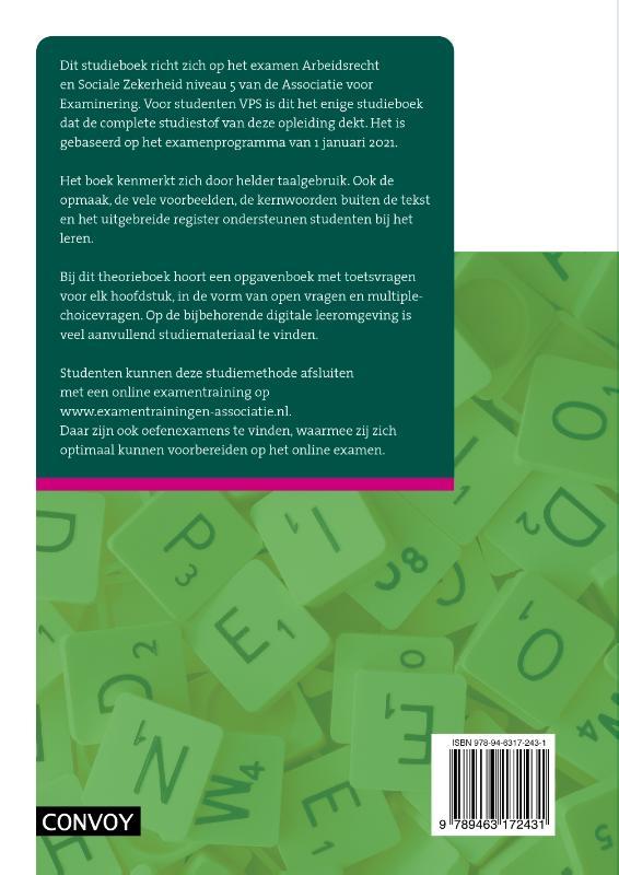 L.M. van Rees,VPS Arbeidsrecht Sociale Zekerheid 2021-2022 Theorieboek