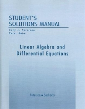 Gary L. Peterson Student Solutions Manual for Linear Algebra and Differential Equations