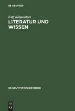 Klausnitzer, Ralf Literatur und Wissen