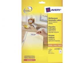 , etiket Avery ILK 63,5x29,6mm wit NP 25 vel 27 etiketten per vel