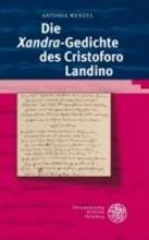 Wenzel, Antonia Die `Xandra`-Gedichte des Cristoforo Landino