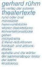 Rühm, Gerhard Theatertexte