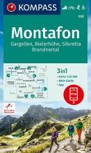 KOMPASS-Karten GmbH , KOMPASS Wanderkarte Montafon, Gargellen, Bielerhöhe, Silvretta 1:25 000