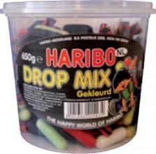 , Haribo Dropmix gekleurd 650gram