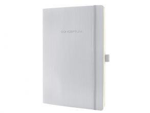 , notitieboek Sigel Conceptum Pure softcover A4 lichtgrijs    geruit