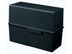 , kaartenbak HAN breed A5 kunststof zwart