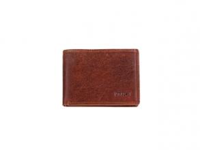 , Portefeuille Mika bruin mini RFID. Leer. 10x7,5x2cm