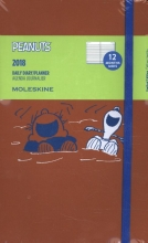 Moleskine 12 Monate Peanuts Tageskalender 2018, A5 Hard Cover, Rot