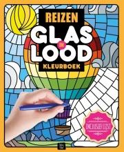 , Kleurboek Interstat volwassenen glas in lood thema reizen