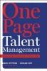 Effron, Marc,One Page Talent Management