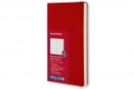 ,2016 Moleskine 18 month planner - weekly horizontal - pocket - scarlet red - hard cover