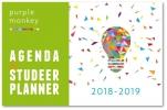 ,Purple Monkey Agenda en Studeerplanner 2018-2019