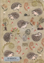 Hedgehogs Weekly Planner 2019 Calendar