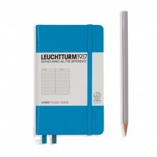 Lt346689 , Leuchtturm notitieboek pocket 90x150 lijn azuurblauw