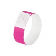 , evenementenbandjes Sigel super soft, 255x25mm 120 stuks     neon roze