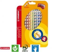 , Kleurpotloden STABILO Easycolors rechtshandig etui à 12 kleuren