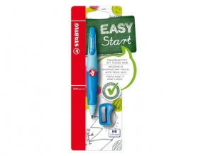 , Vulpotlood STABILO Easyergo 3.15mm rechtshandig blauw/donkerblauw blister