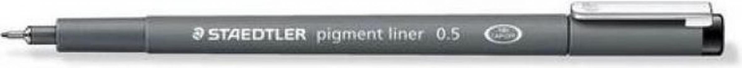 , Fineliner Staedtler Pigment 308 zwart 0.5mm